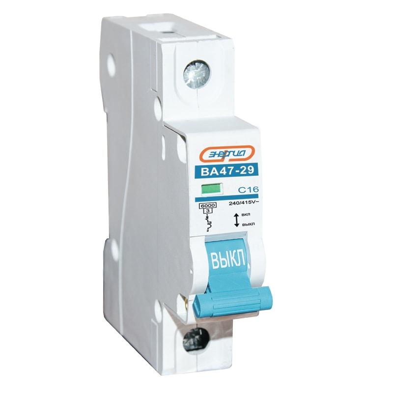 Автоматический выключатель 1P 4A ВА 47-29 ЭНЕРГИЯ автоматический выключатель sh202l 2p 20а с 4 5ка