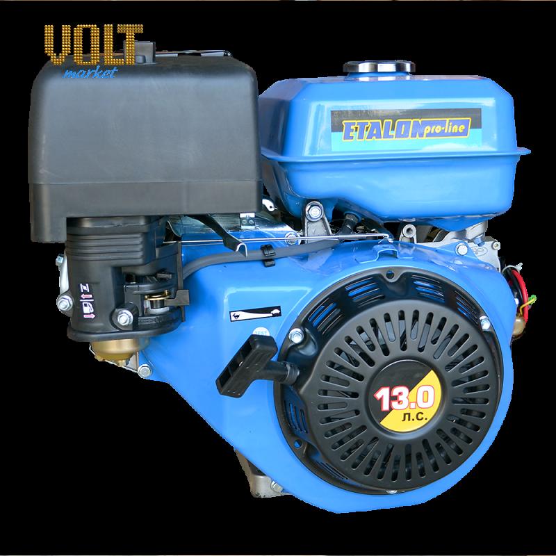 Бензиновый двигатель ETALON GE188FE (13л.с.) с электростартеромСадовая техника<br>Бензиновый двигатель ETALON GE188FE  13л.с.  с электростартером<br><br>Объем заливаемого масла: 1.1<br>Тип: Бензиновый<br>Тип запуска: Ручной стартер, Электростартер<br>Рабочий объем двигателя (см3): 289<br>Максимальная мощность двигателя (л.с.): 13<br>Объем топливного бака (л): 6.5<br>Габаритные размеры (мм): 450х515х490<br>Вес (кг): 31<br>Вес брутто (кг): 32<br>brutto-weight: 34000