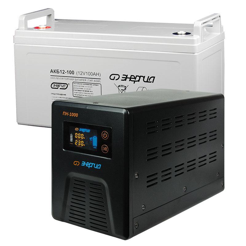 Комплект ИБП Инвертор Энергия ПН-1000 + Аккумулятор 100 АЧ