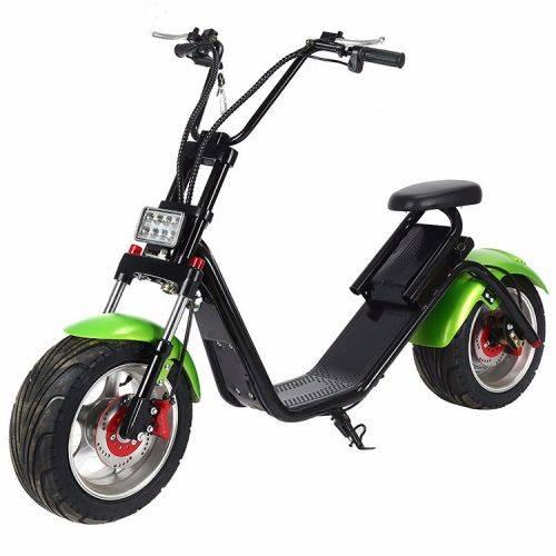 Электроскутер Citycoco Harley LUX зеленыйЭлектроскутеры<br>Электроскутер Citycoco Harley LUX это городской байк. Экологически чистое средство передвижения. Удобно ездить на работу или за продуктами. Можно передвигаться по небольшому бездорожью. Заряда аккумулятора хватает примерно на 60-80 км. Разгоняется до 55 км/ч. Мощность электродвигателя 1200 Вт. Аккумулятор съемный. Полная зарядка в течении 6-8 часов. Можно поставить на сигнализацию. Для передвижения требуются права категории М или выше. При себе необходимо иметь технический паспорт. Регистрация в ГБДД не нуж...<br><br>Cтрана производства: Китай<br>Гарантия: 12 месяцев<br>Расчетный срок службы: 10 лет<br>Мощность мотора эл. двигателя (Вт): 1200<br>Рабочие напряжение эл. двигателя (В): 60<br>Крутящий момент (Нм): 75<br>Максимальная скорость (км/ч): 50<br>Запас хода при полном заряде батарей (км/ч): 80<br>Запуск скутера: C ключа, С брелка<br>Фара: LED<br>Сигнал поворота: Задний LED, Передний LED<br>Звуковой сигнал: Есть<br>Емкость АКБ (Ач): 12<br>Тип АКБ: Li-ion<br>АКБ: Съемный<br>Ток заряда (А): 2,5<br>Напряжение зарядки (В): 60<br>Время полной зарядки (Ч): 8<br>Индикатор уровня заряда АКБ: Есть<br>Защита от воровства АКБ: Есть<br>Сигнализация: Есть<br>Круиз-контроль: Есть<br>Радиус заднего колеса (дюймы): 12<br>Размер резины заднего колеса (мм): 235/35<br>Размер резины переднего колеса (мм): 205/40<br>Диски: Литые<br>Тип покрышек: Бескамерные<br>Тип тормозов: Дисковые<br>Тормозная система: Гидравлическая<br>Тип амортизаторов: Передние газомасленые<br>Приложение для смартфона: IOS, Android<br>Держатель для смартфона: Есть с функцией заряди АКБ<br>Зеркала заднего вида: Есть (Monster)<br>Цвет рамы: Черный<br>Цвет крыльев: Зеленый<br>Допустимая макс. нагрузка (кг): до 200<br>Кол-во сидений: 1<br>Длина (см): 181<br>Высота (см): 110<br>Ширина (см): 79<br>Высота по седлу (см): 72<br>Снаряженная масса (кг): 56-60<br>Комплект: Запасные ключи с брелком, зарядное устройство с   сетевым шнуром, инструкция с гарантийным та