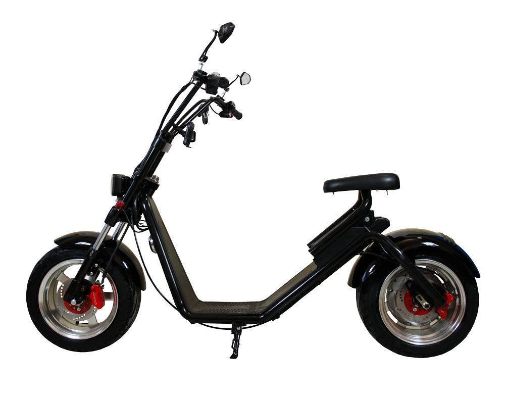 Электроскутер Citycoco Harley LUX черный от Woqu Citycoco