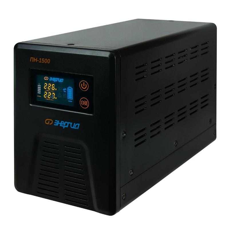 Инвертор (преобразователь напряжения) Энергия ПН-1500 с цветным дисплеем от Вольт Маркет