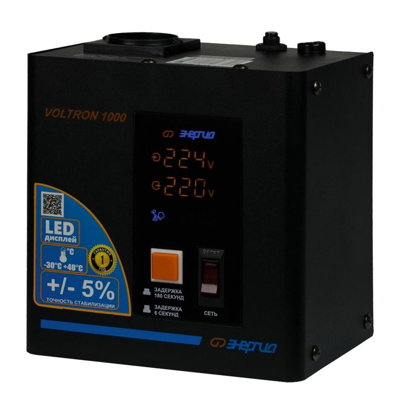 Однофазный стабилизатор напряжения Энергия Voltron 1000 (HP) от Вольт Маркет