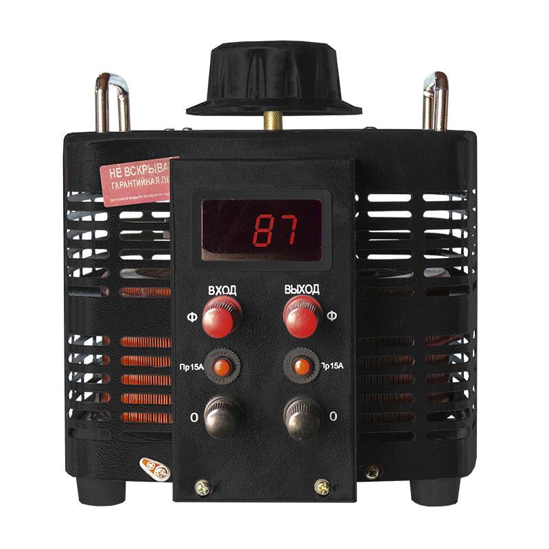 Автотрансформатор (ЛАТР) Энергия Black Series TDGC2-5кВА 15А (0-300V) однофазный от Энергия