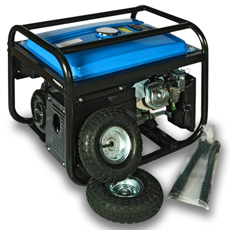 Бензиновая электростанция Etalon EPG 6500 E2 (бензогенератор 5,5 кВт) на колесах, с ручками и аккумулятором от Вольт Маркет