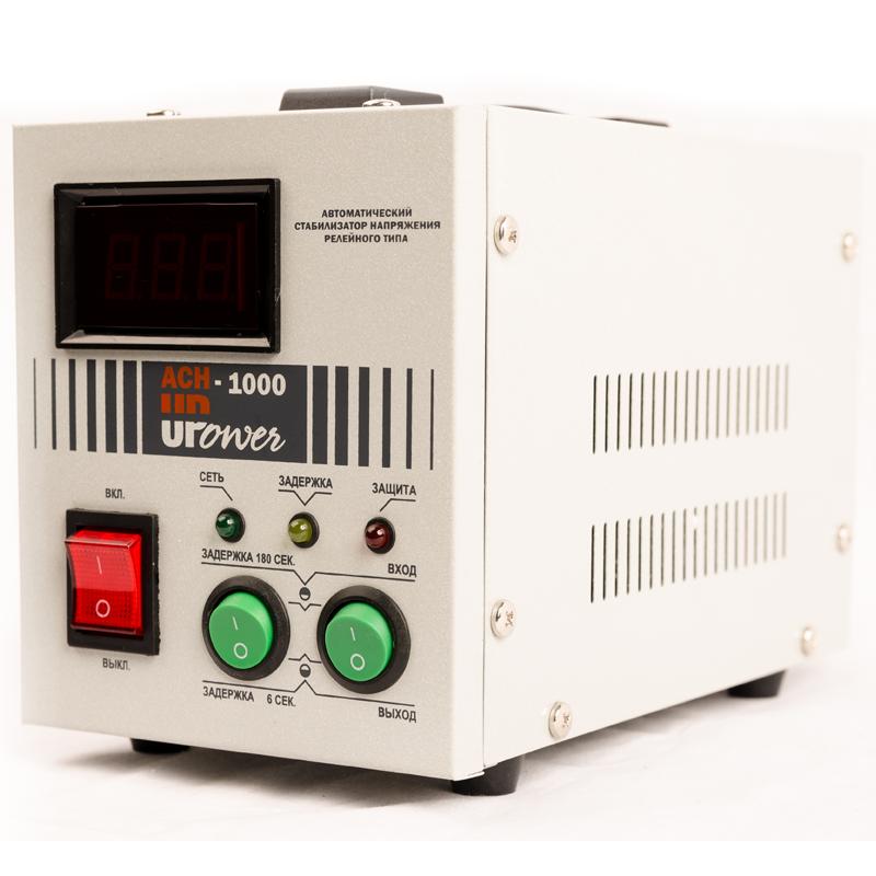 Однофазный стабилизатор напряжения UPOWER АСН-1000 с цифровым дисплеем от Вольт Маркет