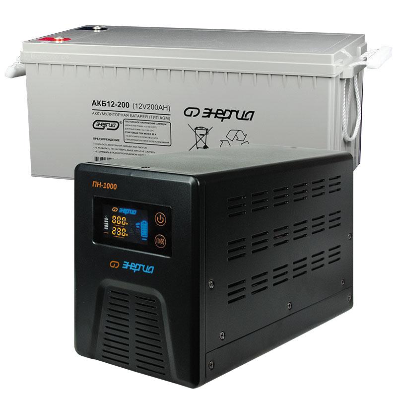 Комплект ИБП Инвертор Энергия ПН-1000 + Аккумулятор 200 АЧ