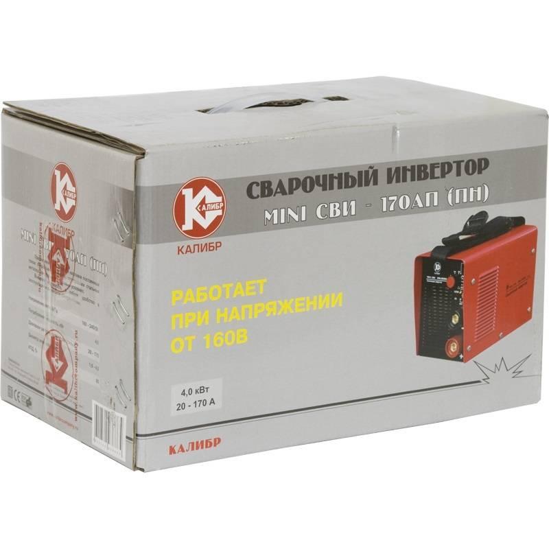Сварочный аппарат Калибр MINI СВИ - 170АП(ПН) (инверторный) от Вольт Маркет