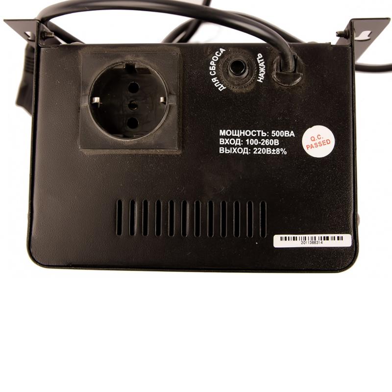 Стабилизаторы напряжения Релейные стабилизаторы напряжения: Voltron Однофазный стабилизатор напряжения VOLTRON РСН 500 (настенный)