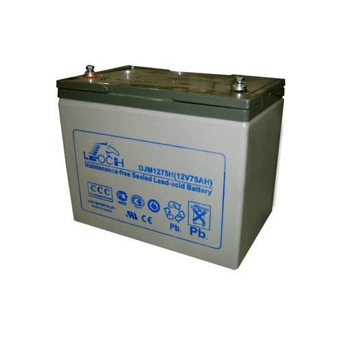 Аккумулятор LEOCH DJM1275 НАккумуляторы<br>Номинальная ёмкость данной аккумуляторной батареи составляет 75 А/Ч. Срок работы составляет 10 лет. Аккумулятор изготовлен по технологии AGM. Батарея подключается к ИБП через болтовые соединения диаметром М6. Оптимальная температура работы составляет 25°C.<br>
