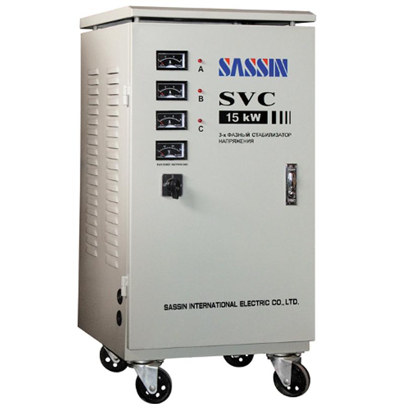 Однофазный стабилизатор напряжения SASSIN SVC-15000 (15 кВА) от Вольт Маркет