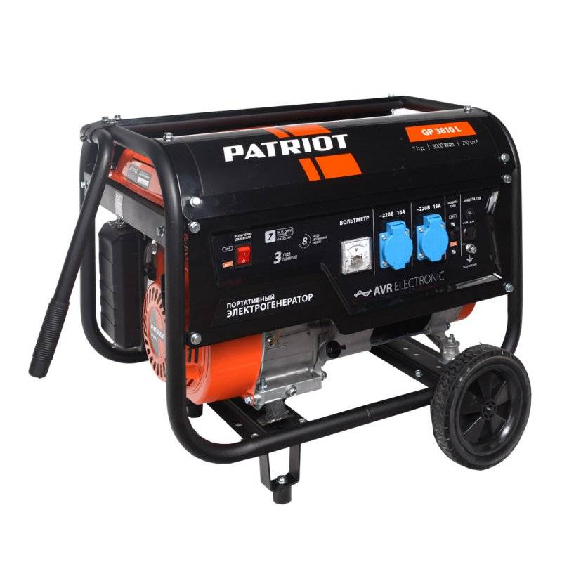 Генератор бензиновый PATRIOT GP 3810L  генератор бензиновый patriot 3000i