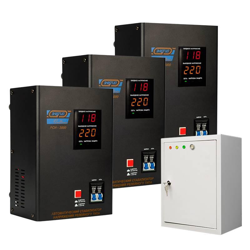 Трехфазный релейный стабилизатор Энергия Voltron РСН 9000 - Стабилизаторы напряжения
