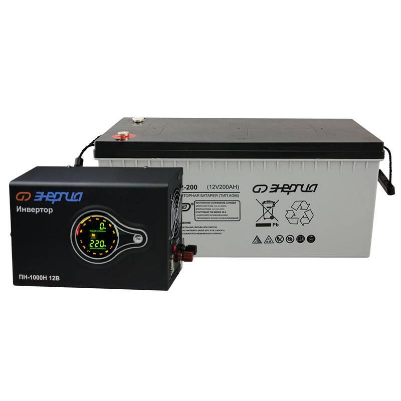 Комплект ИБП Инвертор навесной Энергия ПН-1000 + Аккумулятор 200 АЧ - Инверторы
