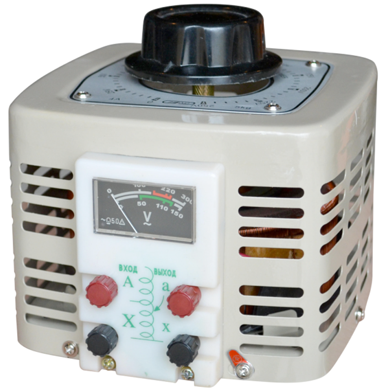 Регулируемый однофазный автотрансформатор (ЛАТР) ЭНЕРГИЯ TDGC2-2k (2 кВА)Трансформаторы<br>Регулируемый однофазный автотрансформатор  ЛАТР  TDGC2-2k  2 кВА<br><br>Гарантия: 12 месяцев<br>Тип напряжения: Однофазный<br>Мощность (кВА): 2.1<br>Габаритные размеры (мм): 200х170х220<br>Вес (кг): 8.5<br>brutto-demissions: 280х210х225<br>brutto-weight: 8150