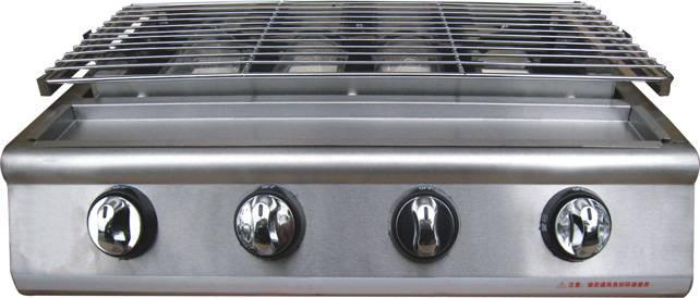 Газовый гриль-барбекю LPG HB214Оборудование для фаст-фуда<br>HB214 – четырех-комфорочный газовый гриль барбекю для дачи, ресторанов или кафе. С пьезокерамическим поджигом  не требуется электроэнергии  и инфракрасным нагревом  нет прямого огня . Работает на сжиженном газе. Баллон с газом подключается через редуктор. Гарантия 1 год.<br>