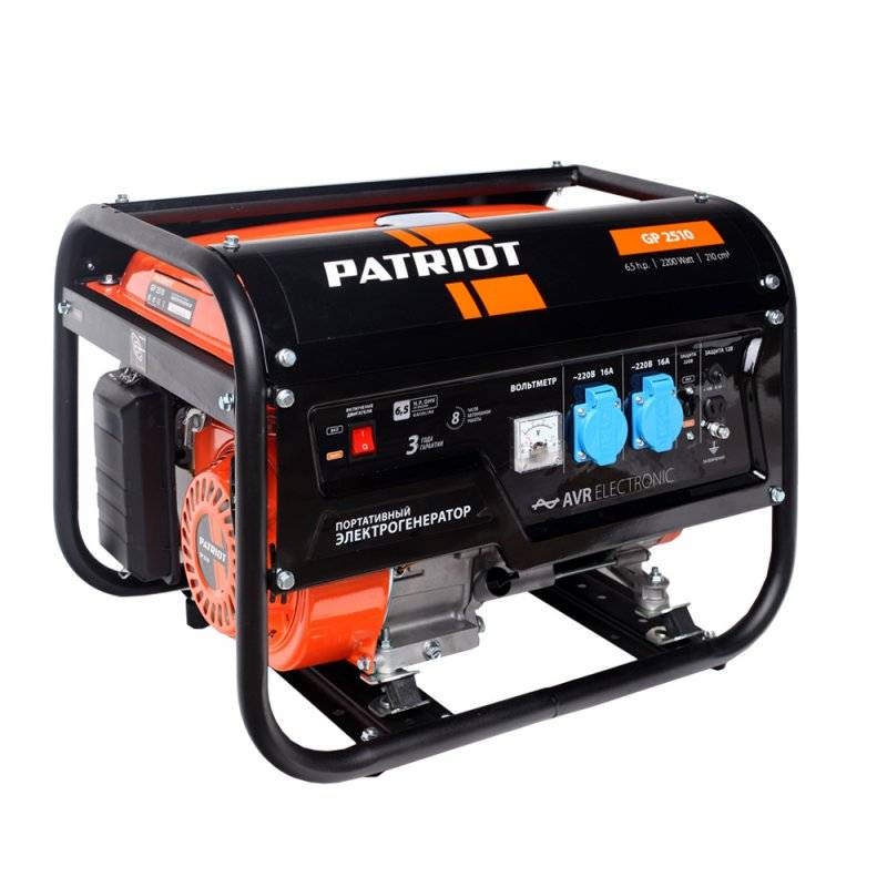 Генератор бензиновый PATRIOT GP 2510 генератор бензиновый patriot srge 950