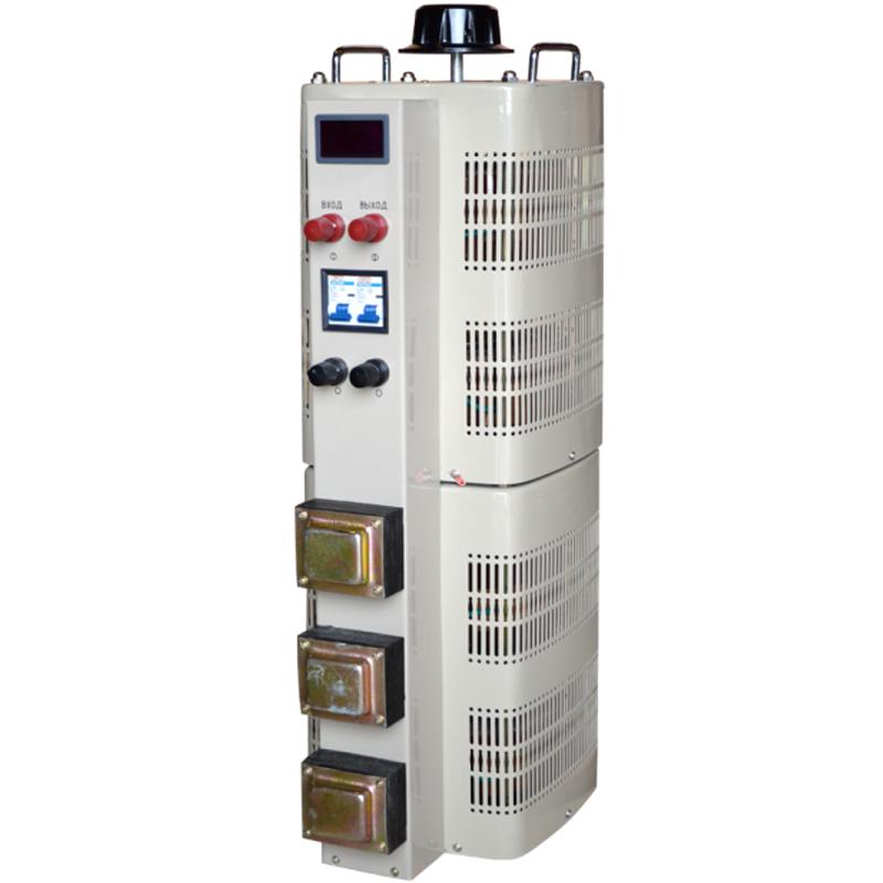 Регулируемый однофазный автотрансформатор (ЛАТР) ЭНЕРГИЯ TDGC2-30k (30 кВА)Однофазные ЛАТРы<br>Однофазный автотрансформатор TDGC2-30k с LCD-дисплеем<br><br>Гарантия: 12 месяцев<br>Тип напряжения: Однофазный<br>Мощность (кВА): 30<br>Габаритные размеры (мм): 730х320х395<br>Вес (кг): 88.5<br>brutto-weight: 91500