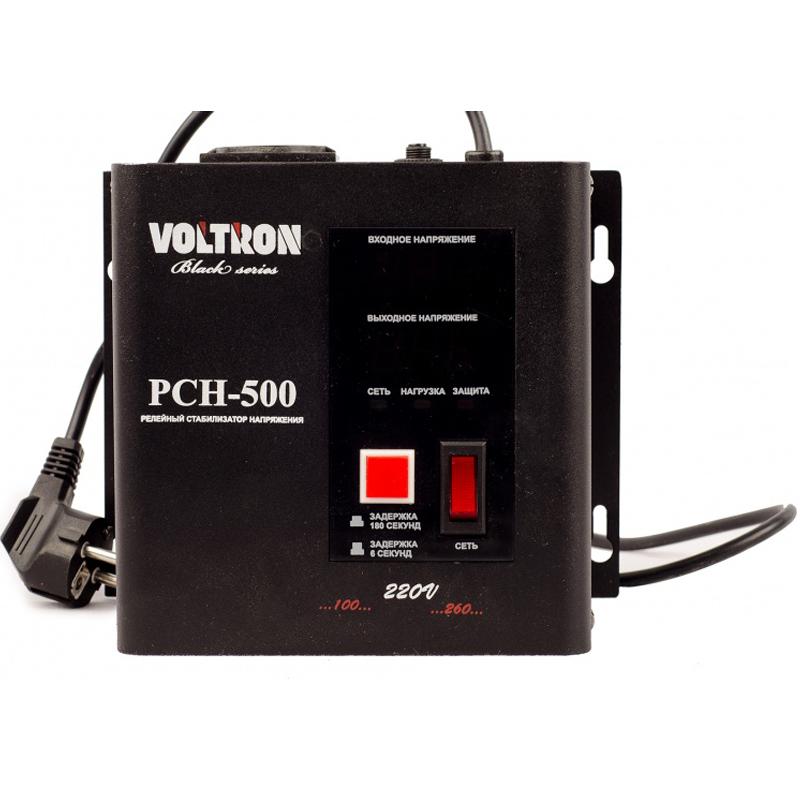 Однофазный стабилизатор напряжения VOLTRON РСН 500 (настенный)Стабилизаторы напряжения<br>Однофазный стабилизатор напряжения VOLTRON РСН 500  настенный<br><br>Применение: Для котла<br>Тип напряжения: Однофазный<br>Принцип стабилизации: Релейный<br>Мощность (кВА): 0.5<br>Способ установки: Настенный<br>Габаритные размеры (мм): 180х165х115<br>Вес (кг): 3.5<br>brutto-demissions: 230х235х187<br>brutto-weight: 3500
