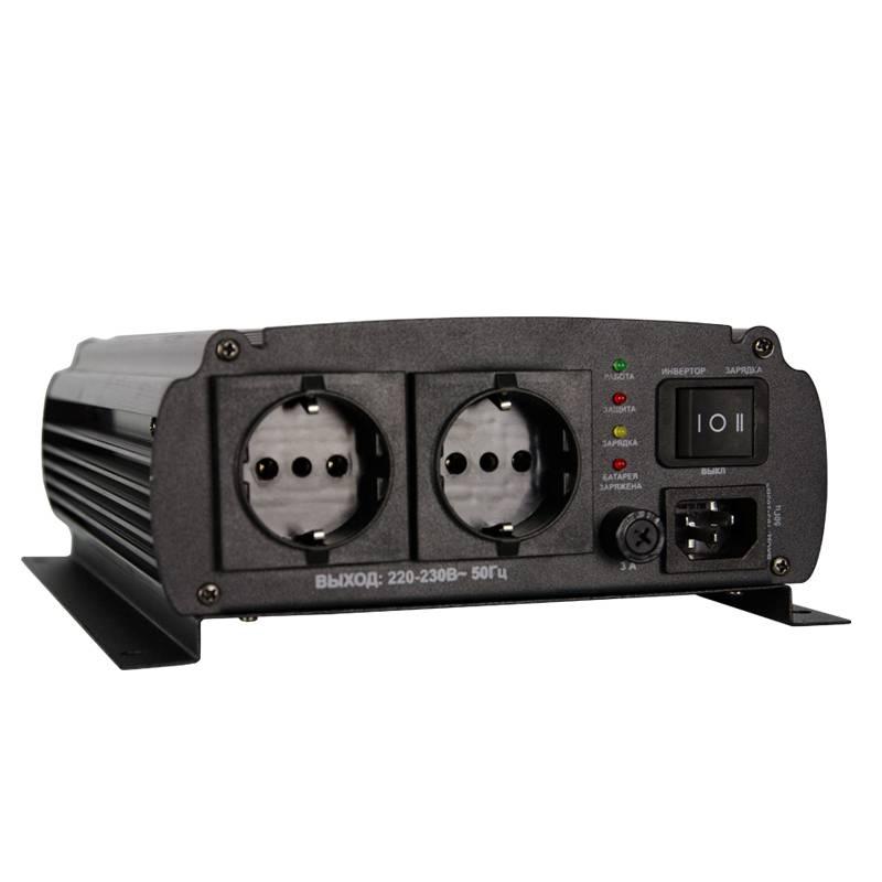 Автомобильный инвертор Энергия AutoLine Plus 600 с функцией зарядки аккумулятора от Вольт Маркет