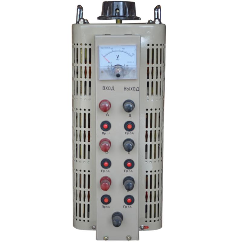 Регулируемый трехфазный автотрансформатор (ЛАТР) ЭНЕРГИЯ TSGC2-3k (3 кВА)Трансформаторы<br>Регулировочный трехфазный автотрансформатор  ЛАТР  TSGC2-3k  3 кВА<br><br>Гарантия: 12 месяцев<br>Тип напряжения: Трехфазный<br>Мощность (кВА): 3<br>Габаритные размеры (мм): 245х315х495<br>Вес (кг): 19,5<br>Вес брутто (кг): 21<br>brutto-demissions: 315х245х495<br>brutto-weight: 21000