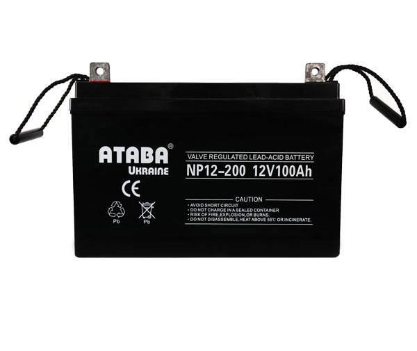 Аккумулятор Ataba NP12-200 12V200Аh - Инверторы