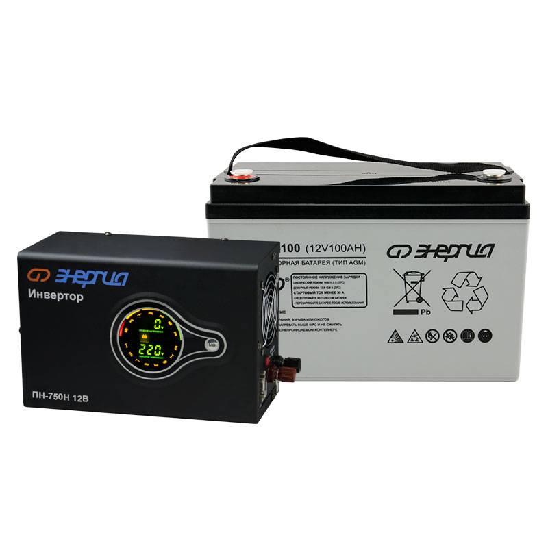 Комплект ИБП Инвертор навесной Энергия ПН-750 + Аккумулятор 100 АЧ - Инверторы