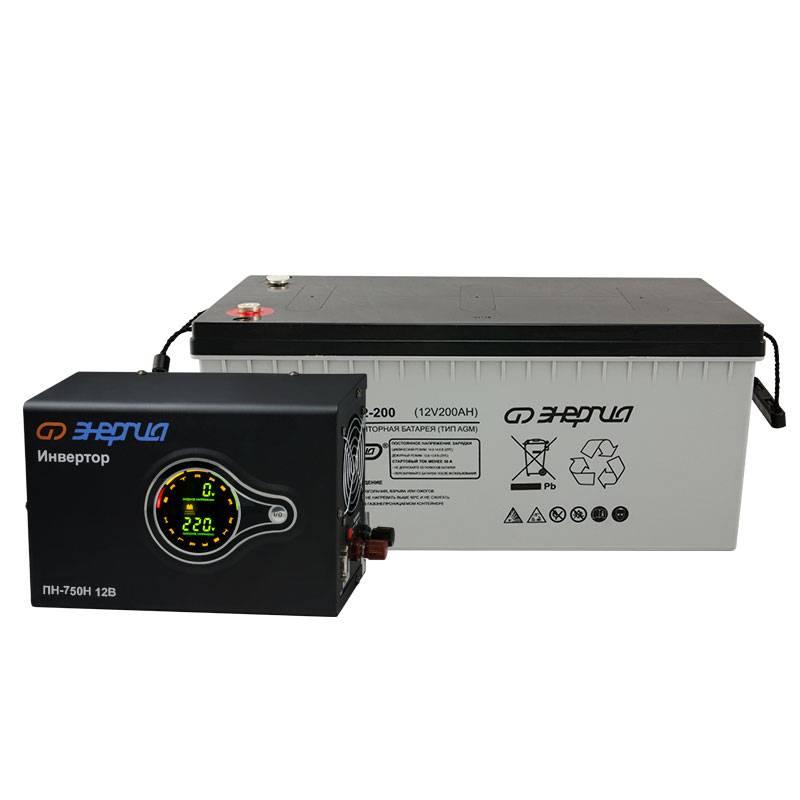 Комплект ИБП Инвертор навесной Энергия ПН-750 + Аккумулятор 200 АЧ - Инверторы