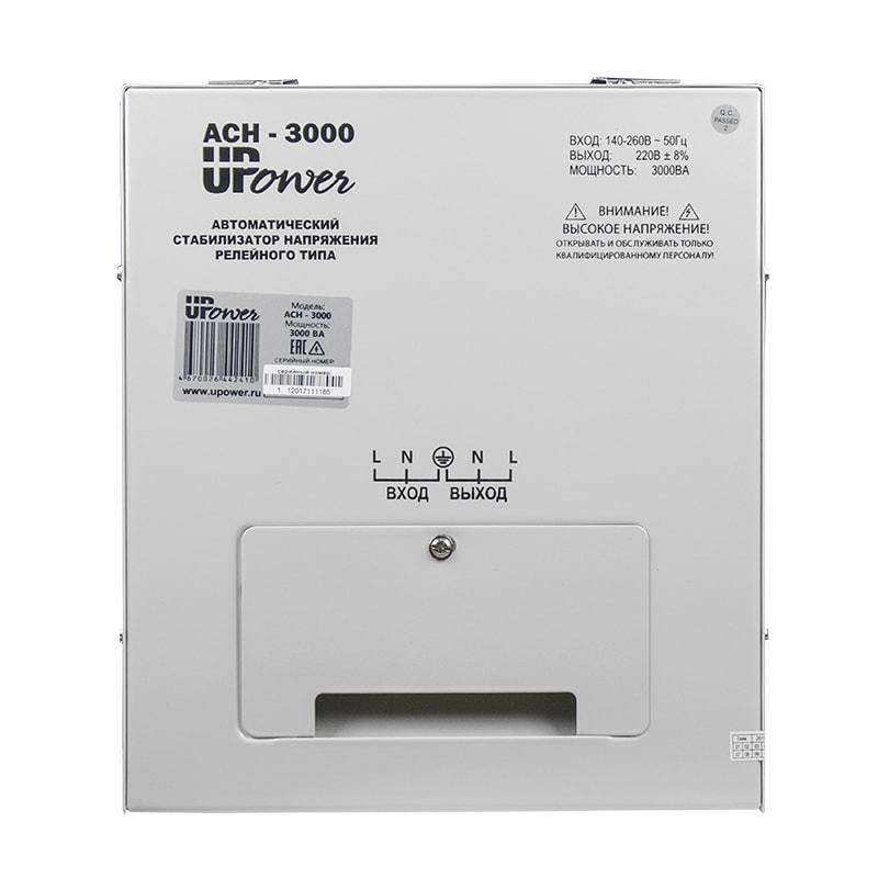 Однофазный стабилизатор напряжения UPOWER АСН 3000 II поколение от Вольт Маркет