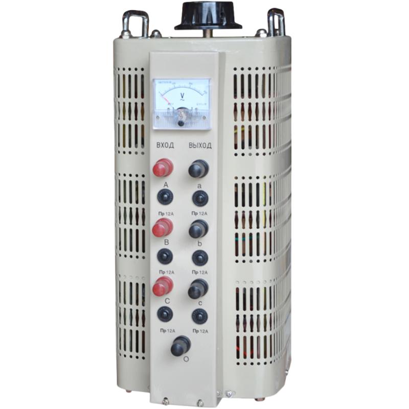 Регулируемый трехфазный автотрансформатор (ЛАТР) ЭНЕРГИЯ TSGC2-15k (15 кВа)Трансформаторы<br>Регулировочный трехфазный автотрансформатор  ЛАТР  TSGC2-15k  15 кВа<br><br>Гарантия: 12 месяцев<br>Тип напряжения: Трехфазный<br>Мощность (кВА): 15<br>Габаритные размеры (мм): 618х245х272<br>Вес (кг): 50<br>brutto-demissions: 315х435х470<br>brutto-weight: 40000
