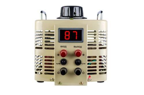 Регулируемый однофазный автотрансформатор (ЛАТР) ЭНЕРГИЯ TDGC2-5k (5 кВА)Трансформаторы<br>ЛАТР  NEW  TDGC2-  5К    5kVA 20A ЭНЕРГИЯ<br><br>Тип напряжения: Однофазный<br>Мощность (кВА): 5<br>Способ установки: Напольный<br>Габаритные размеры (мм): 248х245х272<br>Вес (кг): 15.5
