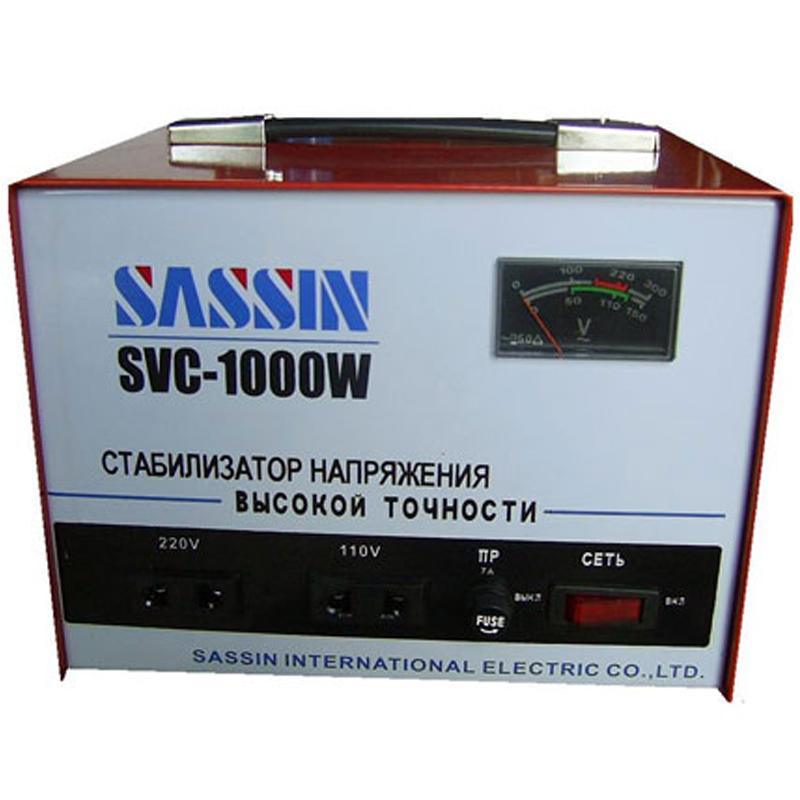 Однофазный стабилизатор напряжения SASSIN SVC-1000 (1 кВА)
