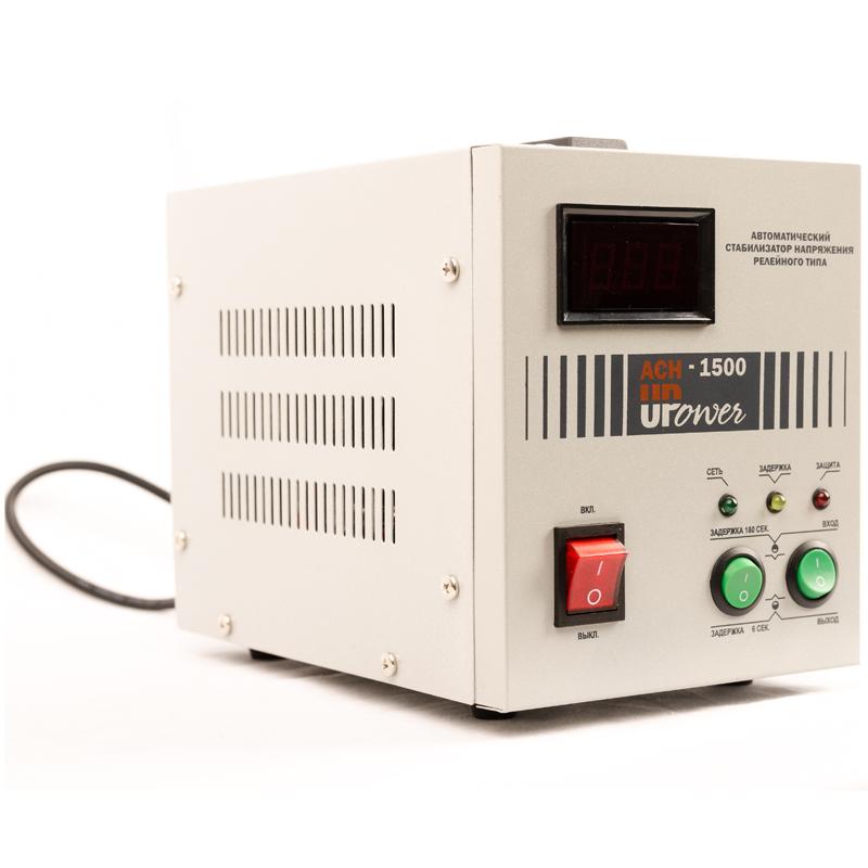 Однофазный стабилизатор напряжения UPOWER АСН-1500 с цифровым дисплеем от Вольт Маркет