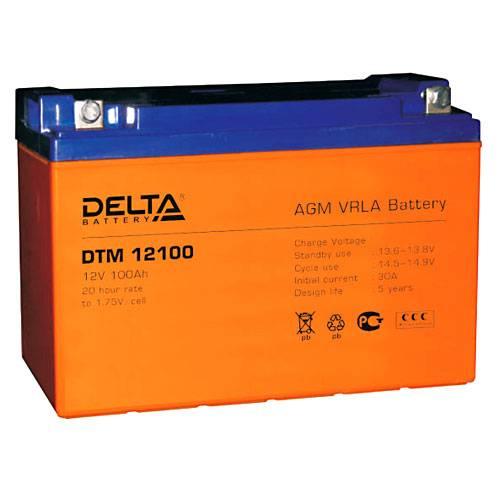 Аккумулятор DELTA DTM 12100 - Инверторы