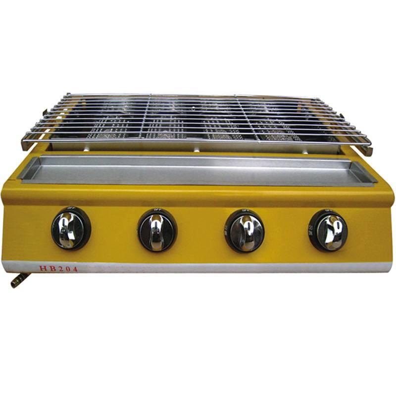 Газовый гриль-барбекю LPG HB204 - Оборудование для фаст-фуда