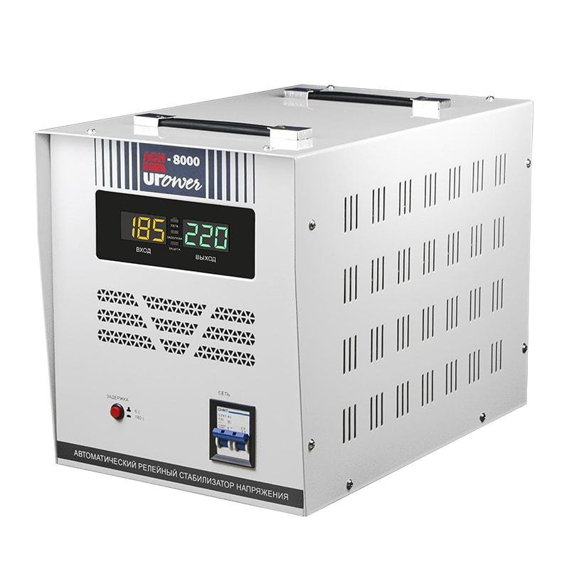 Однофазный стабилизатор напряжения UPOWER АСН 8000 II поколение от Вольт Маркет