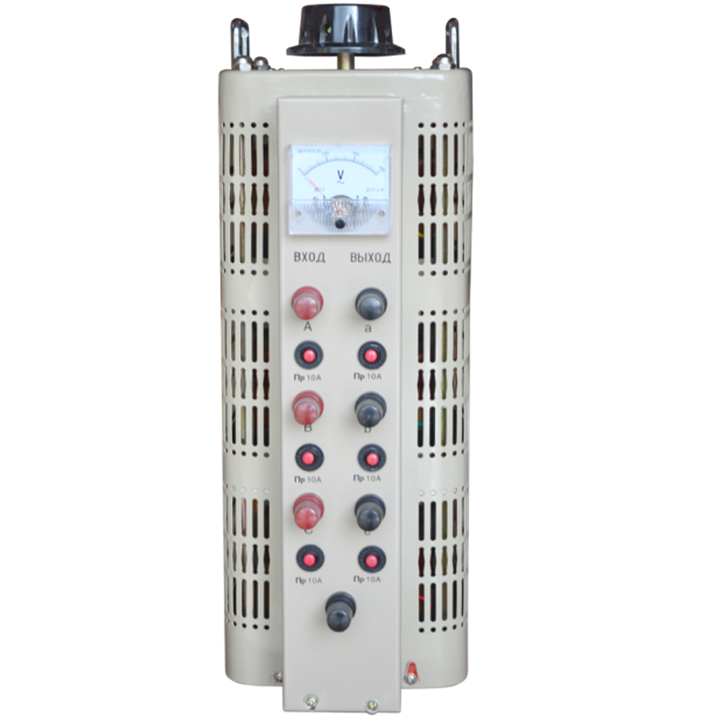 Регулируемый трехфазный автотрансформатор (ЛАТР) ЭНЕРГИЯ TSGC2-6k (6 кВА)Трансформаторы<br>Регулировочный трехфазный автотрансформатор  ЛАТР  TSGC2-6k  6 кВА<br><br>Гарантия: 12 месяцев<br>Тип напряжения: Трехфазный<br>Мощность (кВА): 6<br>Габаритные размеры (мм): 557х182х207<br>Вес (кг): 25.5<br>brutto-demissions: 260х315х550<br>brutto-weight: 27000