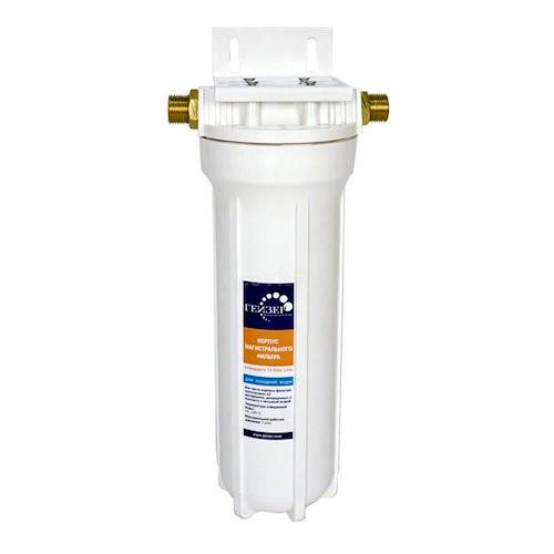 Фильтр магистральный Гейзер Корпус 10SL 1/2 с металлической скобой от Гейзер