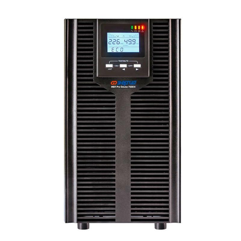Источник бесперебойного питания Энергия ИБП Pro OnLine 7500 (EA-9006H) 192В напольный