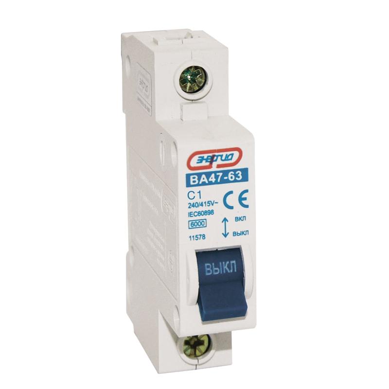 Автоматический выключатель 1P 1A ВА 47-63 Энергия от Энергия