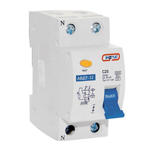 Дифавтомат АВДТ 32 (УЗО2) 32A Энергия
