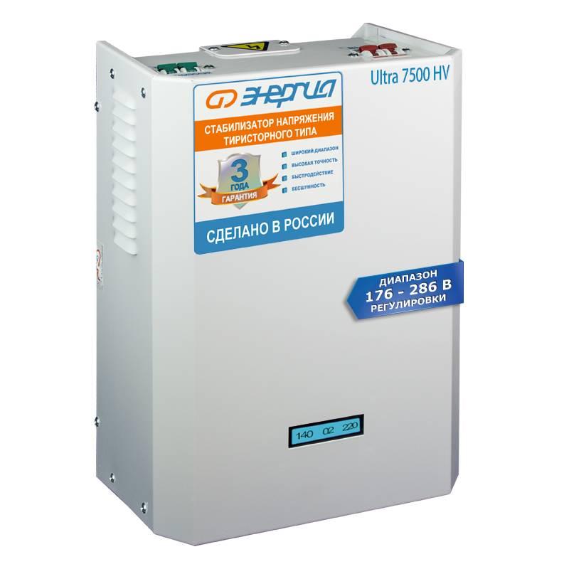 Однофазный стабилизатор напряжения ЭНЕРГИЯ Ultra 7500 (HV)