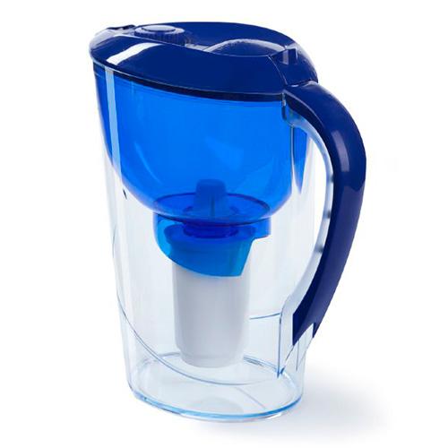 Фильтр кувшин Гейзер Сириус 3,7 литра электронный календарь (синий) от Гейзер